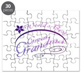 World's Best Great Grandma (purple) Puzzle