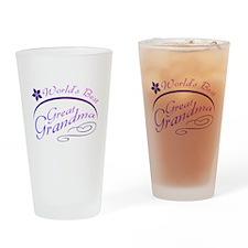 World's Best Great Grandma (purple) Drinking Glass