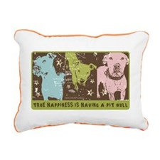 Funny Pitbulls Rectangular Canvas Pillow