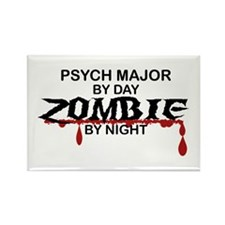 Psych Major Zombie Rectangle Magnet (10 pack)