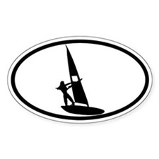 Windsurfing Sticker 2 (Oval)