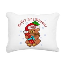 Baby's 1st Christmas Rectangular Canvas Pillow