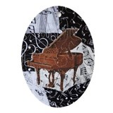 Brown Grand Piano Ornament