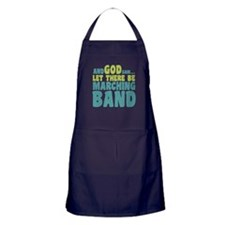 Let There Be Marching Band Apron (dark)