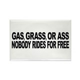 Gas, Grass, or Ass Rectangle Magnet (10 pack)