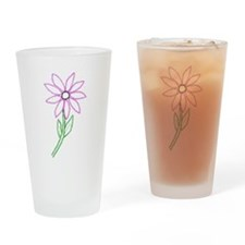 Flower Drinking Glass