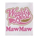 Worlds Best MawMaw Throw Blanket