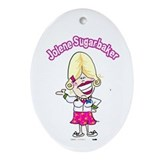 Jolene Sugarbaker Cartoon Ornament (Oval)
