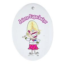 Jolene Sugarbaker Cartoon Ornament (Oval)
