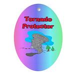 Tornado Protector Ornament (Oval)