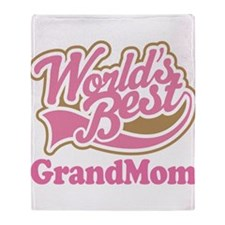 Worlds Best Grandmom Throw Blanket