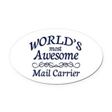 Mail Carrier Oval Car Magnet