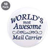 """Mail Carrier 3.5"""" Button (10 pack)"""