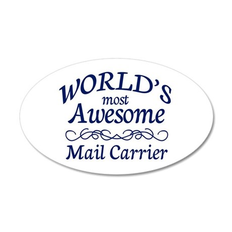 Mail Carrier 35x21 Oval Wall Decal