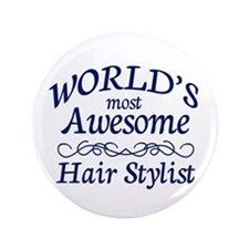 "Hair Stylist 3.5"" Button (100 pack)"