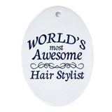 Hair Stylist Ornament (Oval)
