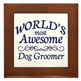 Dog Groomer Framed Tile