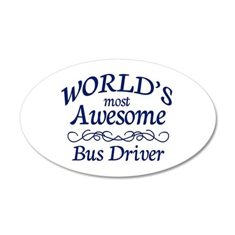 Bus Driver 20x12 Oval Wall Decal