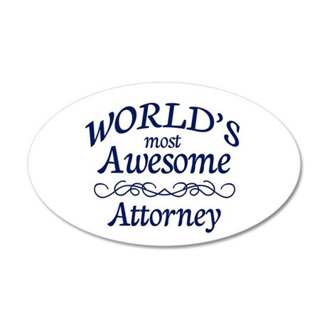 Attorney 20x12 Oval Wall Decal