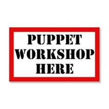 Puppet Workshop Here Car Magnet 20 x 12