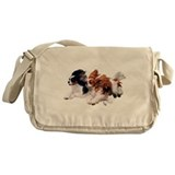 Cute King charles spaniel Messenger Bag