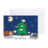 Border collie christmas Greeting Cards (20 Pack)