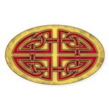 Celtic Knotwork (Red) Oval  Aufkleber