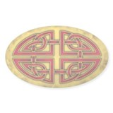 Celtic Knotwork (Red) Oval Decal