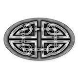 Celtic Knotwork (Grey) Oval  Aufkleber