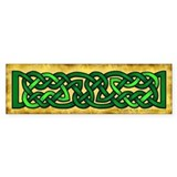 Celtic Knotwork (Green) Bumper Car Sticker
