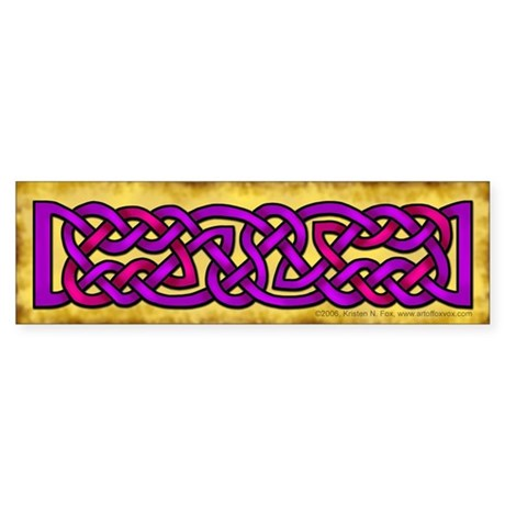 Celtic Knotwork (Purple/Pink) Bumper Sticker