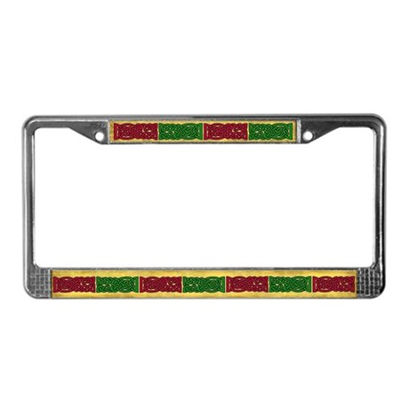 Celtic Knotwork (Red/Green) License Plate Frame