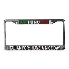 Vaffunculo License Plate Frame