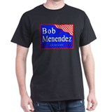 NJ Bob Menendez US Senate Black T-Shirt