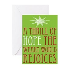 A Thrill of Hope Christmas Greeting Cards (Pk of 2