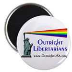 """Outright Libertarians 2.25"""" Magnet (100 pack)"""