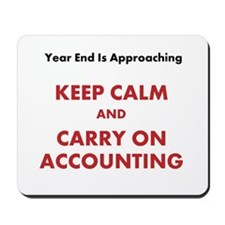 Accounting Year End Motivational Quote Mousepad for