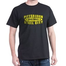 Steel City Football Black T-Shirt