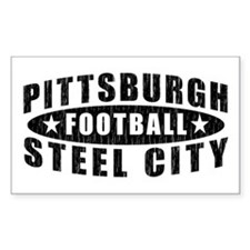 Steel City Football Rectangle Decal