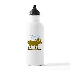 Alaskan Moose For Black Backgrounds Water Bottle