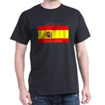Spain Spanish Flag Black T-Shirt