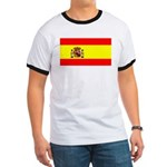 Spain Spanish Blank Flag Ringer T
