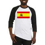 Spain Spanish Blank Flag Baseball Jersey