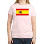 Spain Spanish Blank Flag Women's Pink T-Shirt
