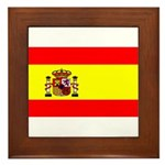 Spain Spanish Blank Flag Framed Tile