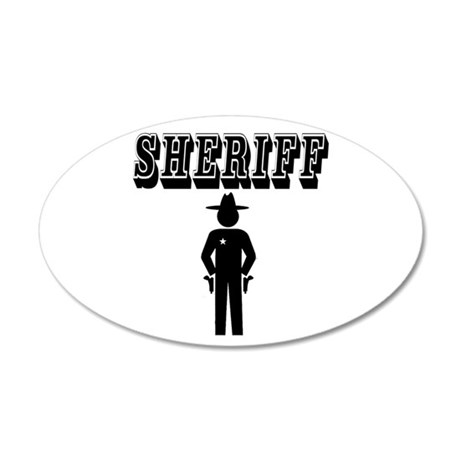 SHERIFF 35x21 Oval Wall Decal