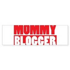 Mommy Blogger , Stacked, Red, Mommy Blog Bumper Sticker