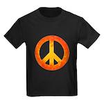 Peace on Fire Kids Dark T-Shirt