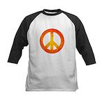 Peace on Fire Kids Baseball Jersey