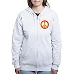 Peace on Fire Women's Zip Hoodie